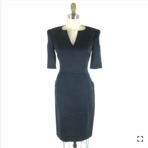 NWT Anna Molinari Navy Blue Architectural Dress
